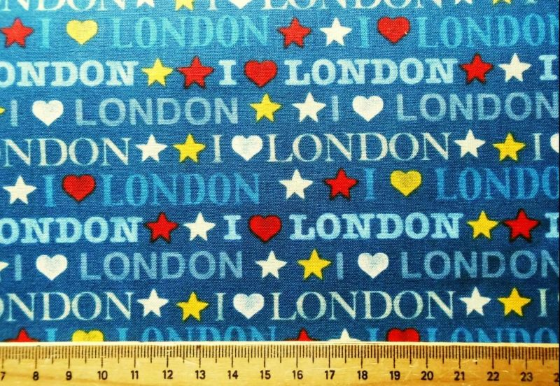 London blau Patchworkstoff