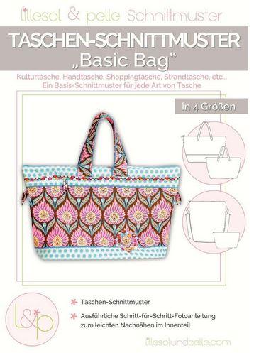 Patchworktaschen: Basic Bag in 4 Größen Tasche Nähanleitung
