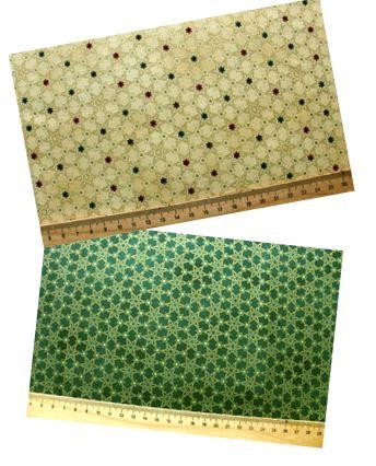 weihnachtsstoffe wintermotive stoffpaket weihnachtsstern gr n gold patchworkstoff. Black Bedroom Furniture Sets. Home Design Ideas