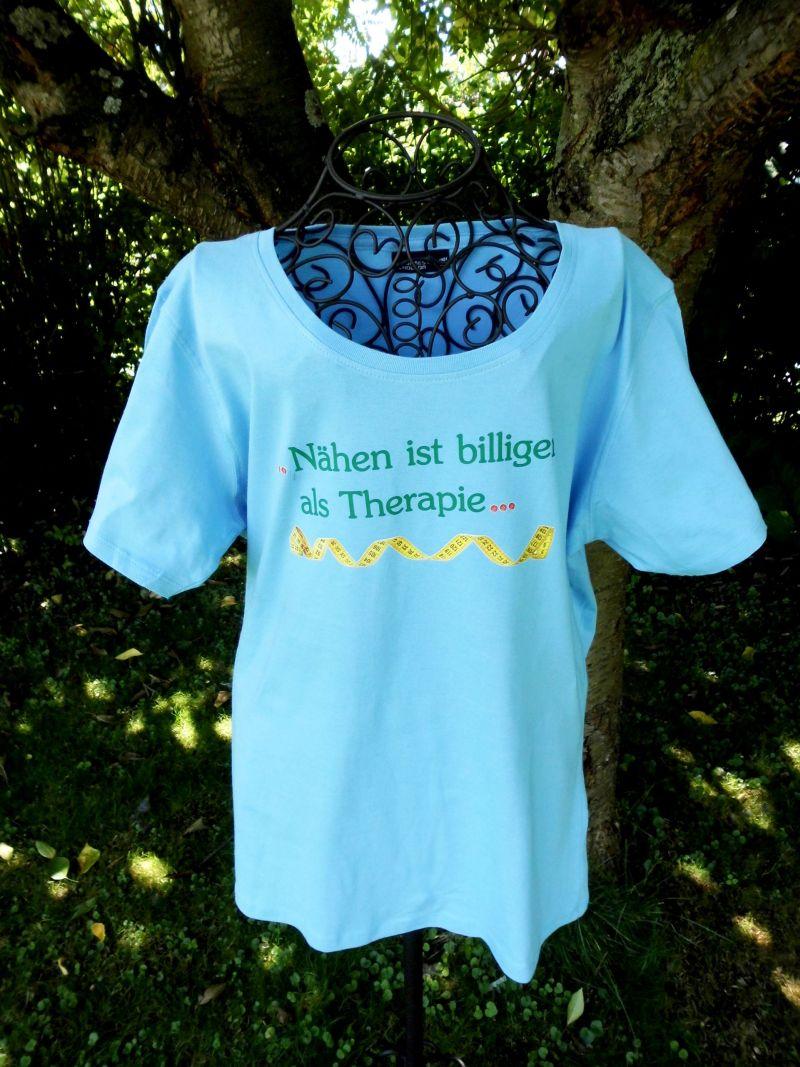 Geschenkartikel T Shirt 3xl Nähen Ist Biliger Als Therpaie Hellblau