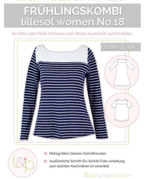 Konfektion Schnitte : Shirt Kleid Nähanleitung Schnittmuster Lillesol