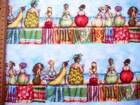 Fruit Ladies Bordüre Patchworkstoff