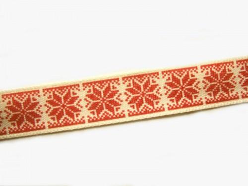 1516 Mini Sterne auf Orange 10mm Ripsband Borte Webband