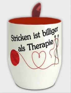 Mug Tasse Stricken Therapie rot