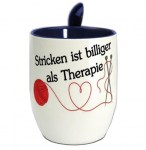 Mug Tasse Stricken Therapie blau
