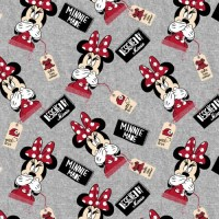 Minnie Mouse grau Jerseystoff